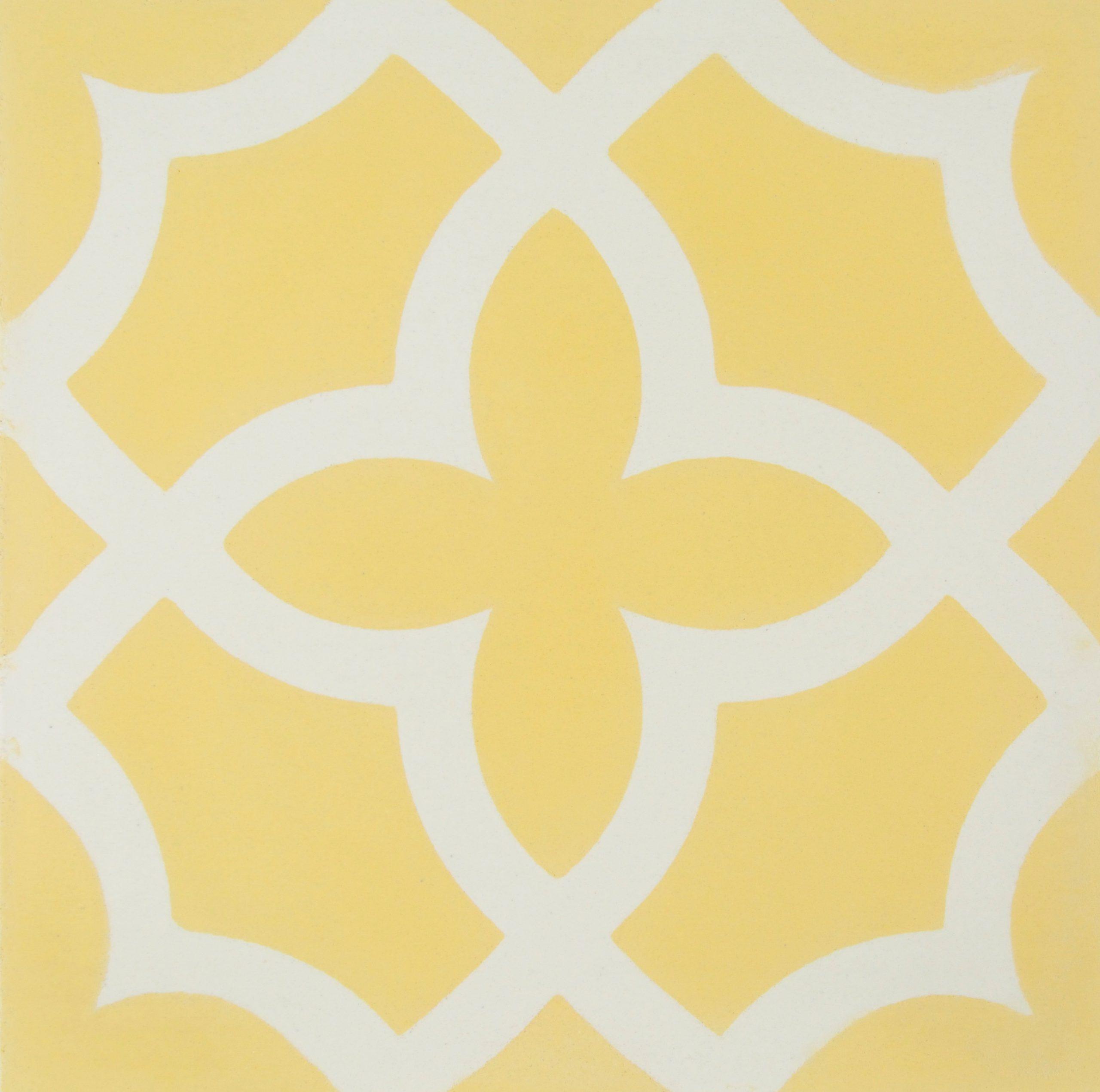 Baldosa hidráulica Albaicín amarillo. Mosaicos Lamardelejos